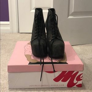 Jeffery Campbell lace up booties
